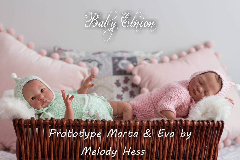 reborn kit twins Eva and Marta by Melody hess